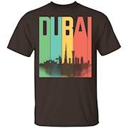 Dubai United Arab Emirates Skyline Retro Style Shirt – T-Shirt
