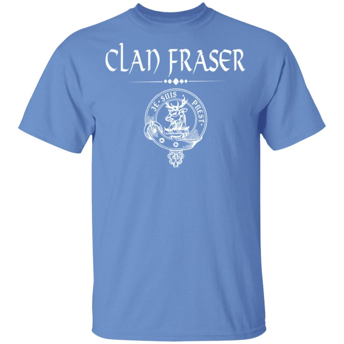 Clan Fraser Crest T-shirt Je Suis Prest Motto Scottish Gift