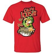 Cap'n Kush Cannabis Cereal Parody Marijuana Graphic Tee T-Shirt