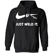 Just Weld It T shirt with automatic welding